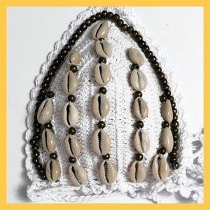 Swim - BNWT- White Crochet With Shells 2 Piece